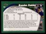 2002 Topps #160  Brandon Stokley  Back Thumbnail