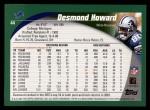 2002 Topps #44  Desmond Howard  Back Thumbnail