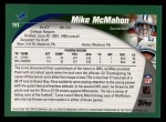 2002 Topps #191  Mike McMahon  Back Thumbnail