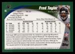 2002 Topps #45  Fred Taylor  Back Thumbnail