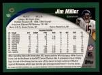 2002 Topps #151  Jim Miller  Back Thumbnail