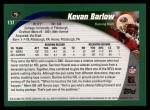 2002 Topps #137  Kevan Barlow  Back Thumbnail