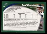 2002 Topps #14  Todd Pinkston  Back Thumbnail
