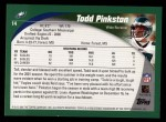 2002 Topps #14  Todd Pinkston  Back Thumbnail