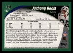 2002 Topps #195  Anthony Becht  Back Thumbnail