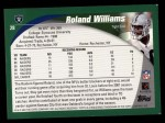 2002 Topps #28  Roland Williams  Back Thumbnail