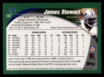 2002 Topps #112  James Stewart  Back Thumbnail