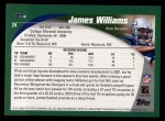2002 Topps #24  James Williams  Back Thumbnail