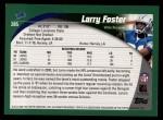 2002 Topps #285  Larry Foster  Back Thumbnail