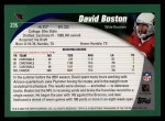 2002 Topps #235  David Boston  Back Thumbnail
