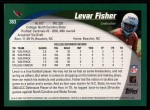 2002 Topps #383  Levar Fisher  Back Thumbnail