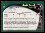 2002 Topps #226  David Terrell  Back Thumbnail