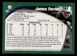 2002 Topps #206  James Farrior  Back Thumbnail