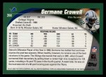 2002 Topps #266  Germane Crowell  Back Thumbnail