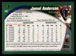 2002 Topps #245  Jamal Anderson  Back Thumbnail