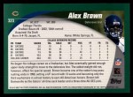 2002 Topps #323  Alex Brown  Back Thumbnail