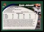 2002 Topps #274  Kevin Johnson  Back Thumbnail