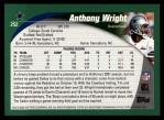 2002 Topps #252  Anthony Wright  Back Thumbnail