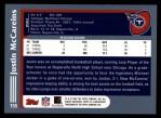 2003 Topps #155  Justin McCareins  Back Thumbnail
