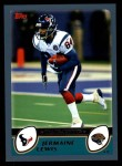 2003 Topps #122  Jermaine Lewis  Front Thumbnail