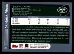 2003 Topps #41  Santana Moss  Back Thumbnail