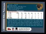 2003 Topps #147  Mike Peterson  Back Thumbnail