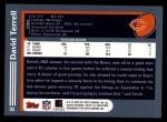 2003 Topps #30  David Terrell  Back Thumbnail