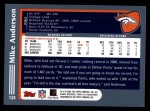 2003 Topps #134  Mike Anderson  Back Thumbnail