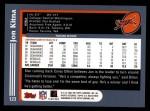 2003 Topps #123  Jon Kitna  Back Thumbnail