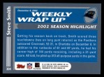 2003 Topps #304   -  Steve Smith Weekly Wrap-Up Back Thumbnail