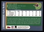 2003 Topps #375  Kyle Boller  Back Thumbnail