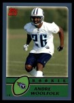 2003 Topps #366  Andre Woolfolk  Front Thumbnail