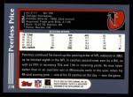 2003 Topps #278  Peerless Price  Back Thumbnail