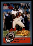 2003 Topps #303   -  Michael Vick Weekly Wrap-Up Front Thumbnail