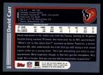 2003 Topps #268  David Carr  Back Thumbnail