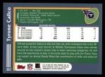 2003 Topps #367  Tyrone Calico  Back Thumbnail