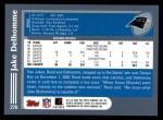 2003 Topps #270  Jake Delhomme  Back Thumbnail