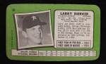 1971 Topps Super #30  Larry Dierker  Back Thumbnail