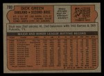 1972 Topps #780  Dick Green  Back Thumbnail