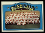 1972 Topps #688   Cardinals Team Front Thumbnail