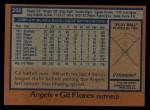 1978 Topps #268  Gil Flores  Back Thumbnail