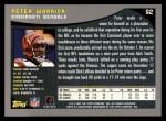 2001 Topps #92  Peter Warrick  Back Thumbnail