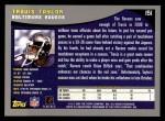 2001 Topps #151  Travis Taylor  Back Thumbnail