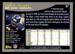 2001 Topps #97  Curtis Conway  Back Thumbnail