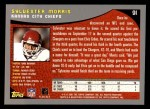 2001 Topps #91  Sylvester Morris  Back Thumbnail