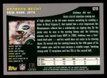 2001 Topps #129  Anthony Becht  Back Thumbnail