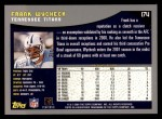 2001 Topps #174  Frank Wycheck  Back Thumbnail