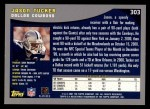 2001 Topps #303  Jason Tucker  Back Thumbnail