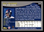 2001 Topps #346  Will Peterson  Back Thumbnail
