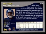 2001 Topps #378  Tay Cody  Back Thumbnail